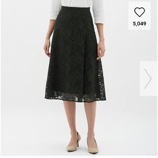 ジーユー(GU)の今季*新品*レースフレアミディスカート(ひざ丈スカート)