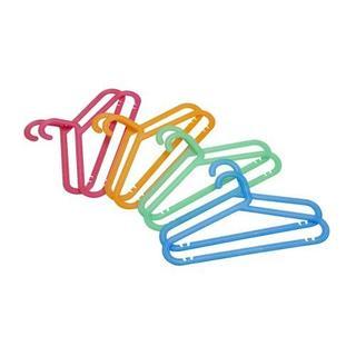 イケア(IKEA)の【新品未使用】 子供用コートハンガー アソートカラー24本セット(収納/チェスト)