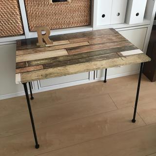 お洒落 アイアン カフェテーブル (コーヒーテーブル/サイドテーブル)