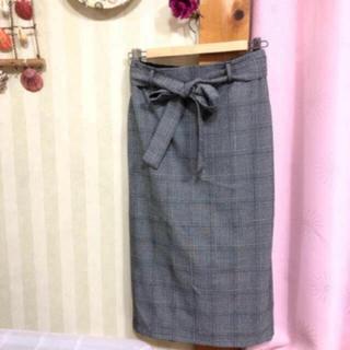 ジーユー(GU)の【1度のみ使用】GU スカート(ひざ丈スカート)