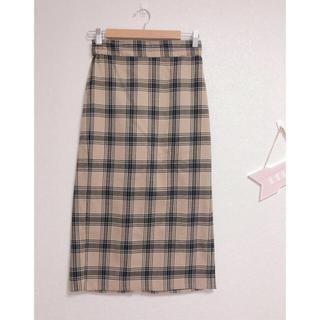 ジーユー(GU)の♡GU チェック スカート♡(ひざ丈スカート)