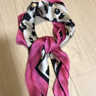 リリーブラウン(Lily Brown)の新品レオパレードスカーフ【ピンク】(バンダナ/スカーフ)