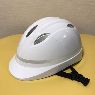 通学用白ヘルメット(ヘルメット/シールド)