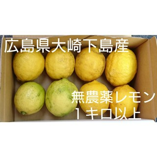 広島県大崎下島産 無農薬レモン1キロ以上