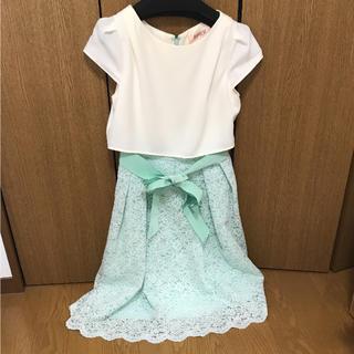 エメ(AIMER)のエメ AIMER ドレス ミント グリーン サイズ 9号 ワンピース(ミディアムドレス)