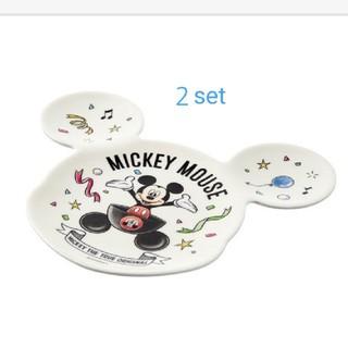 Disney - ミッキー メラニンプレート 2セット