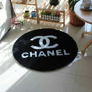 シャネル(CHANEL)のchanel  丸型カーペット   サイズ:100cm(カーペット)