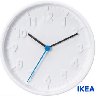 IKEA STOMMA 壁掛け時計 ホワイト 【新品未使用】(掛時計/柱時計)
