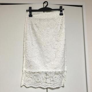 ジーユー(GU)のGUレースタイトスカート(ひざ丈スカート)
