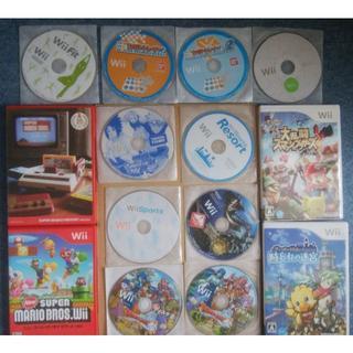 ウィー(Wii)のWiiゲームソフト12本セット+おまけ(家庭用ゲームソフト)