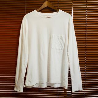 MUJI Labo ポケットロングTシャツ 白 L