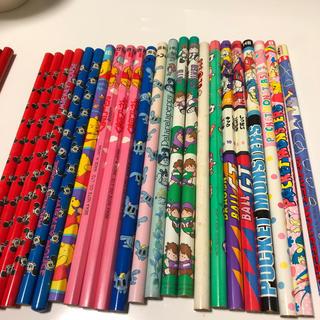ディズニー(Disney)の鉛筆 未使用 古い 23本 赤鉛筆 5本 詰め合わせ(鉛筆)