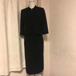 ソワール(SOIR)の美品東京ソワールLILYBURNのジャケット一体型喪服ワンピース サイズ9号 (礼服/喪服)