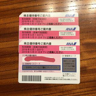 エーエヌエー(ゼンニッポンクウユ)(ANA(全日本空輸))のANA 株主優待券 3枚組(その他)
