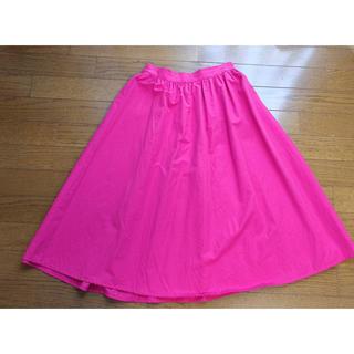 ジーユー(GU)のGU フレアスカート ピンク(ひざ丈スカート)