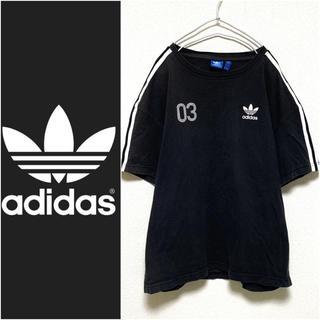 adidas - adidas Originals ロゴ 3ストライプ Tシャツ 3ライン