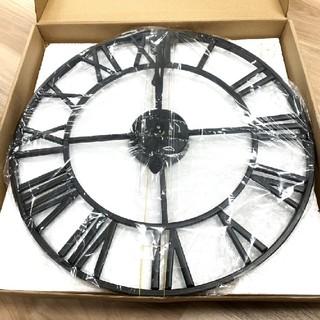 アンティーク壁掛け時計 アイアンフレーム壁掛け時計(掛時計/柱時計)