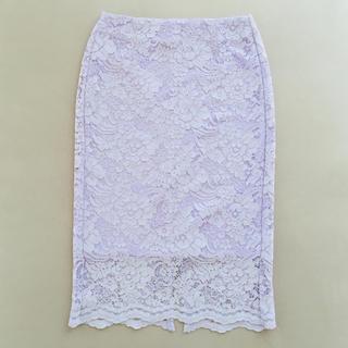 ジーユー(GU)のGU♡レースタイトスカート(ひざ丈スカート)