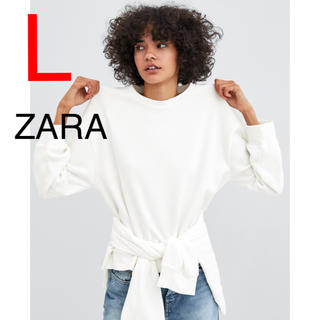ザラ(ZARA)のザラ スウェット トレーナー ホワイト(トレーナー/スウェット)