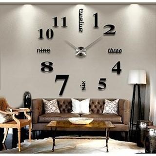 ★インパクト抜群★大きいサイズ壁掛け時計 ローマ数字と英語併用するサイレント(掛時計/柱時計)