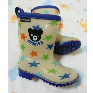 ダブルビー(DOUBLE.B)の美品!【MIKI HOUSE/DOUBLE.B】長靴14センチ (長靴/レインシューズ)