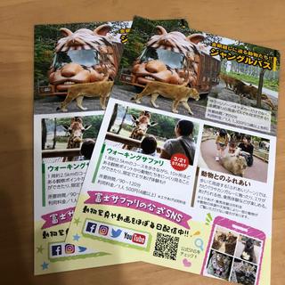 富士サファリパーク 特別優待券 入園無料 割引券(動物園)