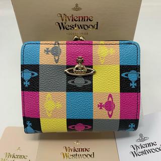ヴィヴィアンウエストウッド(Vivienne Westwood)の新品☺︎Vivienne Westwood 二つ折り財布 ロゴマニア がま口(財布)