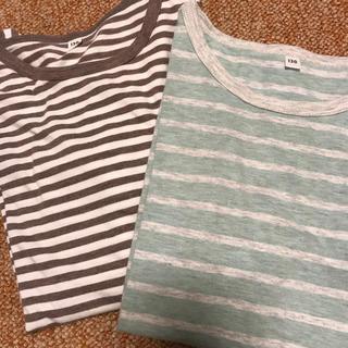 ムジルシリョウヒン(MUJI (無印良品))の無印 Tシャツ2枚セット 130(Tシャツ/カットソー)