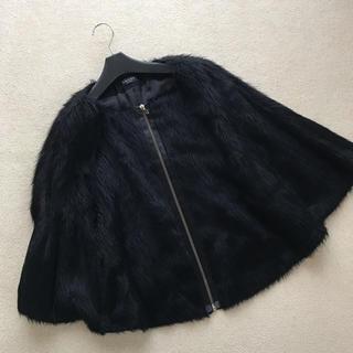アドーア(ADORE)のアドーア   ADORE  ケープ マント風ジャケット 黒 (ノーカラージャケット)