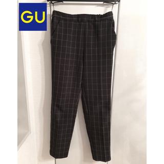 ジーユー(GU)のチェックパンツ gu ジーユー XL 黒 ズボン(カジュアルパンツ)