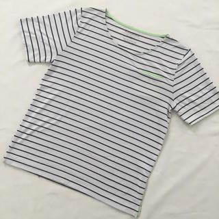 シマムラ(しまむら)のしまむら/ボーダー/Tシャツ/ネオンカラー/グリーン/LL(Tシャツ(半袖/袖なし))