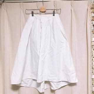 ジーユー(GU)の【即完売商品】★GU★春スカート ホワイト(ひざ丈スカート)