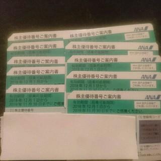 エーエヌエー(ゼンニッポンクウユ)(ANA(全日本空輸))のANA株主優待券  10枚(その他)