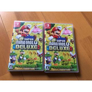 ニンテンドースイッチ(Nintendo Switch)のスーパーマリオブラザーズU×2本 新品未開封(家庭用ゲームソフト)
