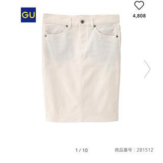 ジーユー(GU)のGU デニムルックタイトスカート(ひざ丈スカート)