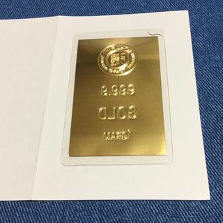 純金 1g カード インゴット☆徳力  ⑴