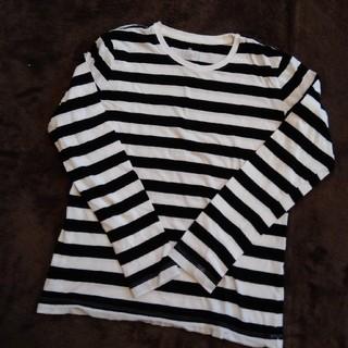 ムジルシリョウヒン(MUJI (無印良品))の無印 定番人気 ボーダーTシャツ(Tシャツ(長袖/七分))