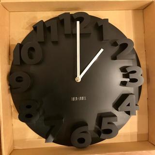 イデアインターナショナル(I.D.E.A international)のイデアideaラウンドウォールクロック ブラックLCW071-BK(掛時計/柱時計)
