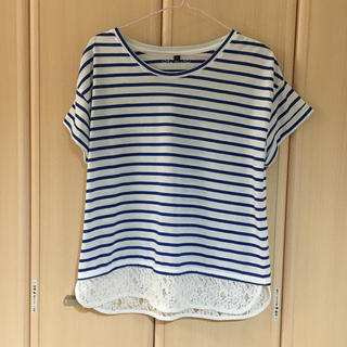 シマムラ(しまむら)のHK WORKS LONDON ボーダーTシャツ(Tシャツ(半袖/袖なし))