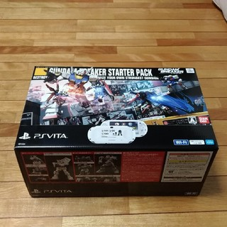 ソニー(SONY)のPS Vita ガンダムブレイカー スターターパック(PCHL-60001)(携帯用ゲーム本体)