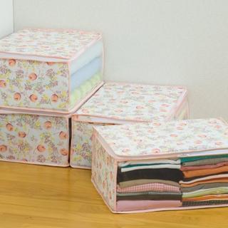 衣類収納ケース 4個組 不織布製364(押し入れ収納/ハンガー)