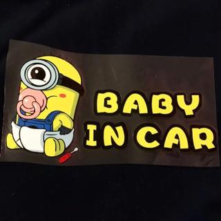 かわいいミニオンズ ベイビーインカー 赤ちゃん 防水ステッカー