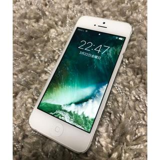 アップル(Apple)のiPhone 5 White 32 GB Softbank(スマートフォン本体)