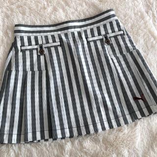 プーマ(PUMA)のプーマ ゴルフPUMA GOLF ストライプ ボックススカート サイズS(ウエア)