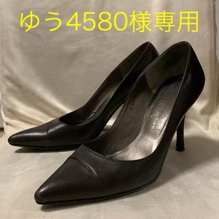 ギンザカネマツ(GINZA Kanematsu)のカネマツ ダークブラウン 8センチ ハイヒール(ハイヒール/パンプス)