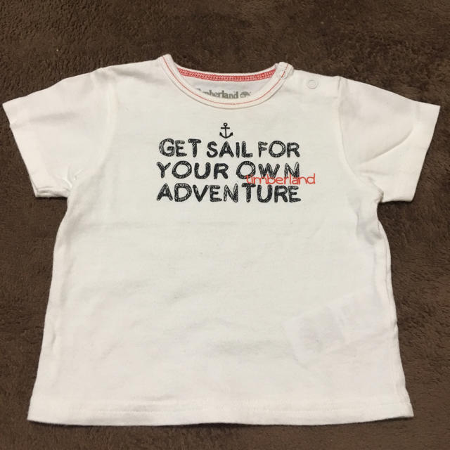 Timberland(ティンバーランド)の ティンバーランド ベビー 白 Tシャツ サイズ60  キッズ/ベビー/マタニティのベビー服(~85cm)(Tシャツ)の商品写真