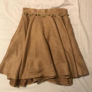 メリージェニー(merry jenny)のmerry jenny スカート スウェード(ひざ丈スカート)