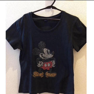 ディズニー(Disney)のミッキー Tシャツ、ディズニー、黒、Tシャツ(Tシャツ(半袖/袖なし))