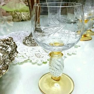 【ヴィンテージ ☆ 美品】ドイツワイングラス 2個セット(グラス/カップ)