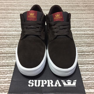 スープラ(SUPRA)のSUPRA AXLE BROWN-WHITE(スニーカー)